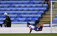 7th July 2020; Madejski Stadium, Reading, Berkshire, England; English Championship Football, Reading versus Huddersfield; Tom McIntyre of Reading heads the shot at goal away