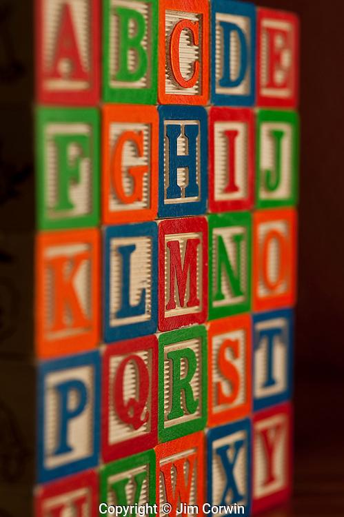 Alphabet Blocks stacked together