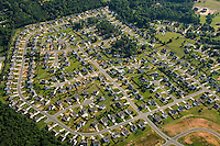 Aerial photo of a Charlotte neighborhood taken May 2008.