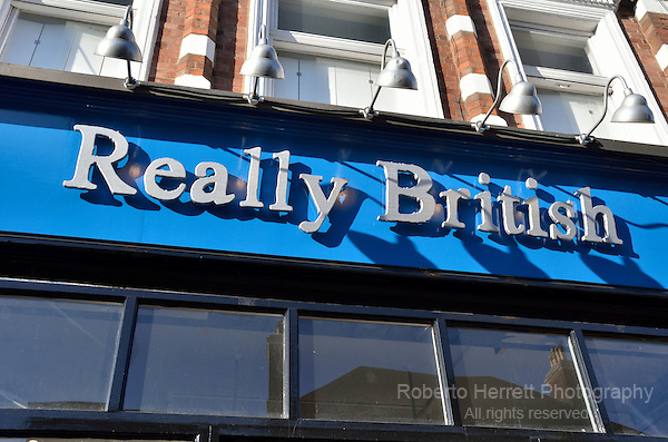 Really British shop, Muswell Hill, London, UK.
