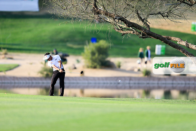 K.J. Choi (USA) on the 15th fairway during the 2nd round of the Waste Management Phoenix Open, TPC Scottsdale, Scottsdale, Arisona, USA. 01/02/2019.<br /> Picture Fran Caffrey / Golffile.ie<br /> <br /> All photo usage must carry mandatory copyright credit (&copy; Golffile | Fran Caffrey)