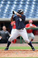 New York Yankees outfielder Alexander Palma (74) during an Instructional League game against the Philadelphia Phillies on September 23, 2014 at the Bright House Field in Clearwater, Florida.  (Mike Janes/Four Seam Images)