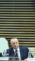 SAO PAULO, SP, 18 DE JANEIRO 2013 - MICHEL TEMER - FIESP - Ministro da Agricultura Mendes RIbeiro acompanha o  vice-presidente da República, Michel Temer durante reunião Inaugural das atividades dos Conselhos Superiores Temáticos da Fiesp na Avenida Paulista - FOTO: VANESSA CARVALHO - BRAZIL PHOTO PRESS.