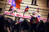 Nashi supporters picket the Estonian embassy in Moscow to protest the relocation of a Soviet War Memorial in the Baltic country. Nashi is a youth-organisation bankrolled by the Kremlim.