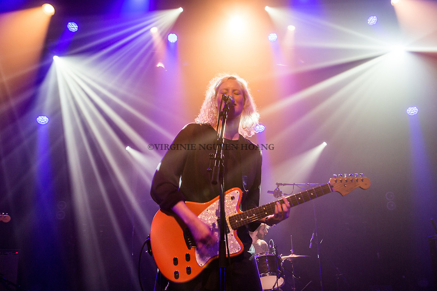 Brussels, Belgium: The Belgian group Annabel Lee is performing at the Botanique for the Belgian music festival Propulse, February 2018.