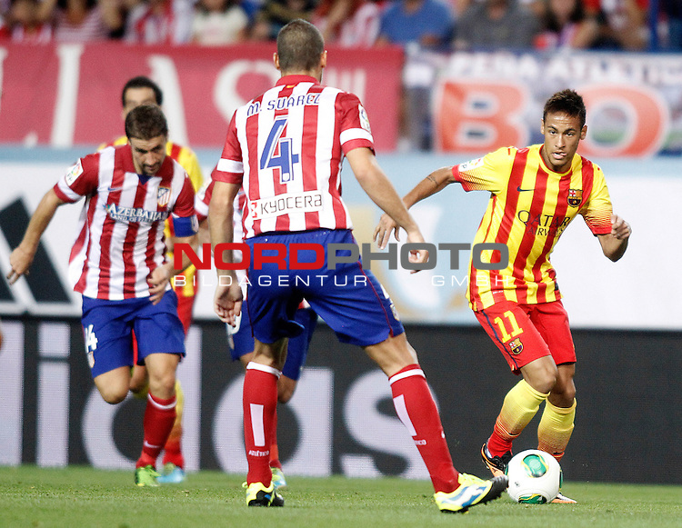 FC Barcelona's Neymar Santos Jr during Supercup of Spain 1st match.August 21,2013. Foto © nph / Acero)