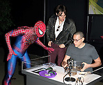 Reeve Carney from Broadway's 'Spider-Man Turn Off The Dark'  visit with Emerson Nunez  of  'Spiders Alive!' at the American Museum of Natural History in New York City on 9/18/2012.