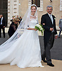 WEDDING OF PRINCE AMEDEO AND ELISABETTA MARIA ROSBOCH VON WOLKENSTEIN<br /> Elisabetta Maria Rosboch von Wolkenstein arrives with her father Ettore Rosboch von Wolkenstein at the Basilica of Santa Maria in Trastevere, in Rome, Italy_05/07/2014<br /> Mandatory Credit Photos: &copy;NEWSPIX INTERNATIONAL<br /> <br /> **ALL FEES PAYABLE TO: &quot;NEWSPIX INTERNATIONAL&quot;**<br /> <br /> PHOTO CREDIT MANDATORY!!: NEWSPIX INTERNATIONAL(Failure to credit will incur a surcharge of 100% of reproduction fees)<br /> <br /> IMMEDIATE CONFIRMATION OF USAGE REQUIRED:<br /> Newspix International, 31 Chinnery Hill, Bishop's Stortford, ENGLAND CM23 3PS<br /> Tel:+441279 324672  ; Fax: +441279656877<br /> Mobile:  0777568 1153<br /> e-mail: info@newspixinternational.co.uk