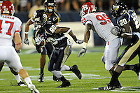 11 September 2010:  FIU wide receiver Jason Frierson (80) returns a punt in the fourth quarter as the Rutgers Scarlet Knights defeated the FIU Golden Panthers, 19-14, at FIU Stadium in Miami, Florida.