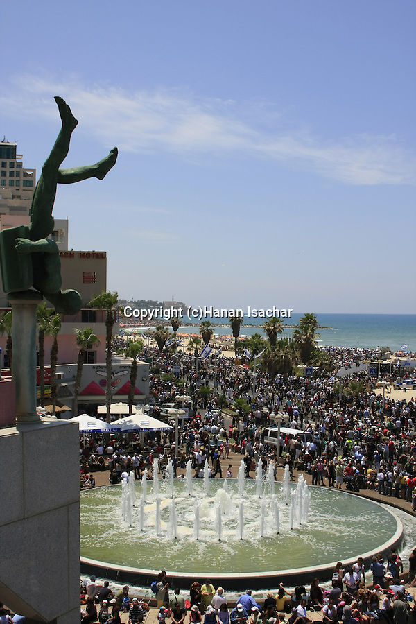Israel, Independence Day in Tel Aviv