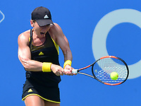 Washington, DC - August 1, 2017: Simona Halep of Romania plays during a match with Sloane Stephens at the Citi Open held at the Rock Creek Tennis Center in Washington, D.C., August 1, 2017. Halep is currently No. 2 in the WTA world rankings. (Photo by Don Baxter/Media Images International)
