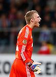 Nederland, Utrecht, 26 september  2012.Seizoen 2012-2013.KNVB Beker.FC Utrecht-Ajax.Jasper Cillessen van Ajax schreeuwt het uit.