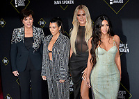SANTA MONICA, USA. November 11, 2019: Kris Jenner, Kourtney Kardashian, Khloe Kardashian & Kim Kardashian at the 2019 E! People's Choice Awards at Santa Monica Barker Hangar.<br /> Picture: Paul Smith/Featureflash