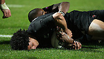 All Black Doug Howlett sores a try during the Iveco rugby union international test match between the All Blacks and Canada at Waikato Stadium, Hamilton, New Zealand on Saturday 16 June 2007. The All Blacks won the match 64 - 13.