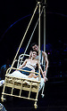 A Matter of Life and Death adapted by Tom Morris and Emma Rice based on the film by Michael Powell and Emeric Pressburger. With Tristan Sturrock as Peter,Lyndsey Marshal as June [in bed] .Opens at The Olivier Theatre on 9/5/07   CREDIT Geraint Lewis