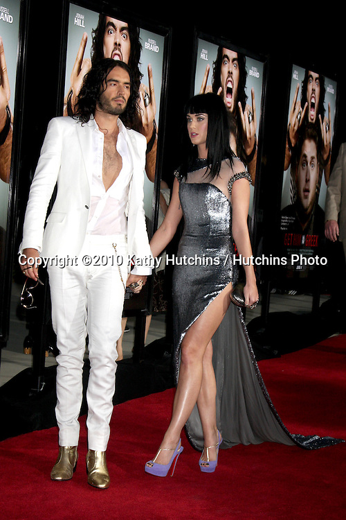 "Russell Brand, Katy Perry.arrives at the ""Get Him to the Greek"" World Premiere.Greek Theater.Los Angeles, CA.May 25, 2010.©2010 Kathy Hutchins / Hutchins Photo.."