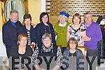 Enjoying the South Kerry MS annual Christmas party in the Dromhall Hotel Killarney on Sunday was front row l-r: Mary O'Sullivan Killorglin, Maureen and Margaret Cronin Killarney. Back row: John Lyne, Alice Fitzgerald, Kathy Marum, Hannah Mary Lyne, Kay Fleming and Pat Cronin Killarney ..