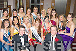 Karen McGillycuddy (West Holiday Park) who was chosen to as the 2009 Kerry Rose at the Earl of Desmond Hotel, Tralee on Saturday surround by her fellow contestants to congratulate her on her victory..