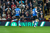 4th November 2017, Villa Park, Birmingham, England; EFL Championship football, Aston Villa versus Sheffield Wednesday; Adam Reach of Sheffield Wednesday celebrates scoring after 18 seconds