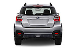 Straight rear view of 2017 Subaru Crosstrek 2.0i Premium CVT 5 Door SUV Rear View  stock images