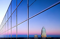 The Bank of America Corporate Center is a key building on the skyline in downtown Charlotte, North Carolina.<br /> <br /> Charlotte Photographer - PatrickSchneiderPhoto.com