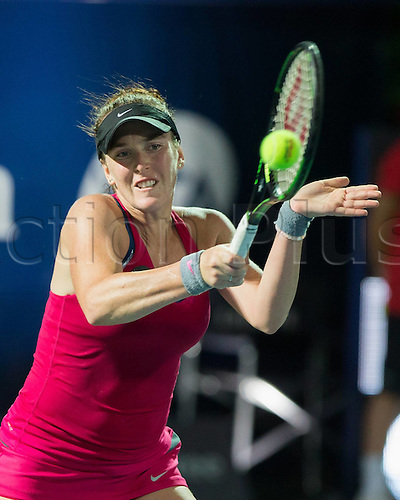 18.02.2016. Dubai, United Arab Emirates.  Madison Brengle (USA) loses to Sara Errani (ITA) at the Dubai Tennis Championships 2016 WTA