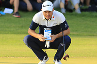 Justin Rose (ENG) lines up his putt to win the playoff hole at the end of Sunday's Final Round of the 2018 Turkish Airlines Open hosted by Regnum Carya Golf &amp; Spa Resort, Antalya, Turkey. 4th November 2018.<br /> Picture: Eoin Clarke | Golffile<br /> <br /> <br /> All photos usage must carry mandatory copyright credit (&copy; Golffile | Eoin Clarke)