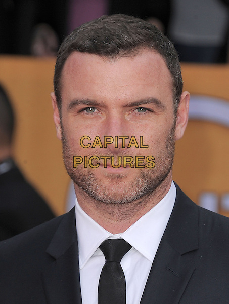 Liev Schreiber.Arrivals at the 19th Annual Screen Actors Guild Awards at the Shrine Auditorium in Los Angeles, California, USA..27th January 2013.SAG SAGs headshot portrait black white suit tie shirt stubble facial hair .CAP/DVS.©DVS/Capital Pictures.