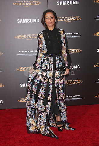 "Los Angeles, CA - November 16 Meta Golding Attending Premiere Of Lionsgate's ""The Hunger Games: Mockingjay - Part 2"" At Microsoft Theater On November 16, 2015. Photo Credit: Faye Sadou / MediaPunch"