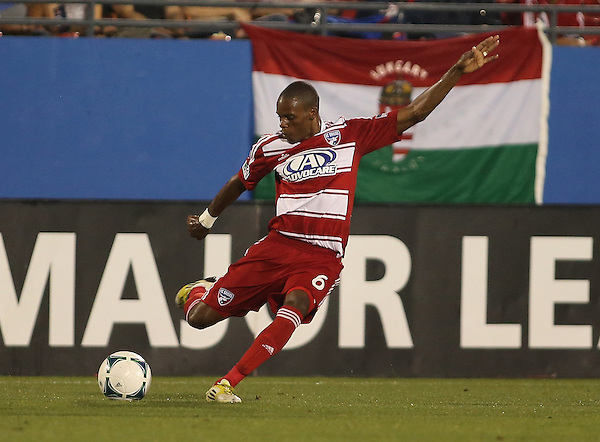 FRISCO, TX:  Jackson #6 of FC Dallas in action against the San Jose Earthquakes at FC Dallas Stadium in Frisco, Texas on May 25,2013 (Photo Rick Yeatts)