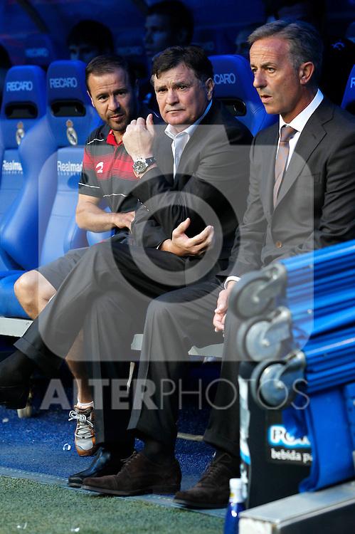 Madrid (11/09/10).- Estadio Santiago Bernabeu..Campeonato Nacional de Liga 2ª Jornada..Real Madrid 1- Osasuna 0.Josa Antonio Camacho...© Alex Cid-Fuentes/ALFAQUI