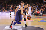 Turkish Airlines Euroleague 2017/2018.<br /> Regular Season - Round 23.<br /> FC Barcelona Lassa vs R. Madrid: 74-101.<br /> Thomas Heurtel vs Luca Doncic.