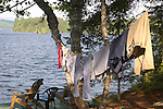 laundry line at camp