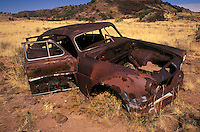 Abandoned car along highway 191, Arizona