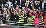 Huddersfield's David Wagner celebrates promotion during the Championship Play-Off Final match at Wembley Stadium, London. Picture date: May 29th, 2017. Pic credit should read: David Klein/Sportimage