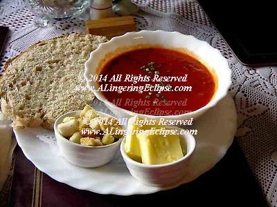 Tomato Soup , Rustic Bread & Butter