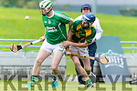Sean Dowling Kilmoyley in action against Padraig Boyle Ballyduff in the County Senior Hurling Final at Austin Stack Park on Sunday.
