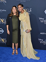 Eva Longoria &amp; Meagan Good at the premiere for &quot;A Wrinkle in Time&quot; at the El Capitan Theatre, Los Angeles, USA 26 Feb. 2018<br /> Picture: Paul Smith/Featureflash/SilverHub 0208 004 5359 sales@silverhubmedia.com