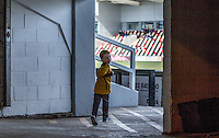 A young Newport fan ahead of the Sky Bet League 2 match between Newport County and Accrington Stanley at Rodney Parade, Newport, Wales on 28 March 2016. Photo by Mark  Hawkins.