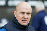 Paul Cook manager of Wigan Athletic  stands on the touch line during the Sky Bet Championship match between Swansea City and Wigan Athletic at the Liberty Stadium, Swansea, Wales, UK. Saturday 19 January 2020