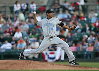 2007:  Ismael Ramirez of the Syracuse Chiefs delivers a pitch vs. the Rochester Red Wings in International League baseball action.  Photo By Mike Janes/Four Seam Images