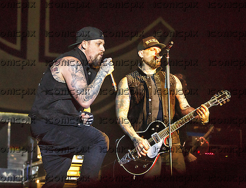GOOD CHARLOTTE - Joel Madden and Benji Madden - performing live at the O2 in London UK - 11 Feb 2016.  Photo credit: Paul Harries/IconicPix **NOT AVAILABLE FOR UK MUSIC MAGAZINES**
