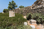The ruins of Caesarea Maritima in Caesarea National Park in Israel.  The city was built as a port on the Mediterranean Sea by Herod the Great between 22 and 15 B.C.