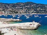 Plage Darse beach, Villefranche, French Riviera, France