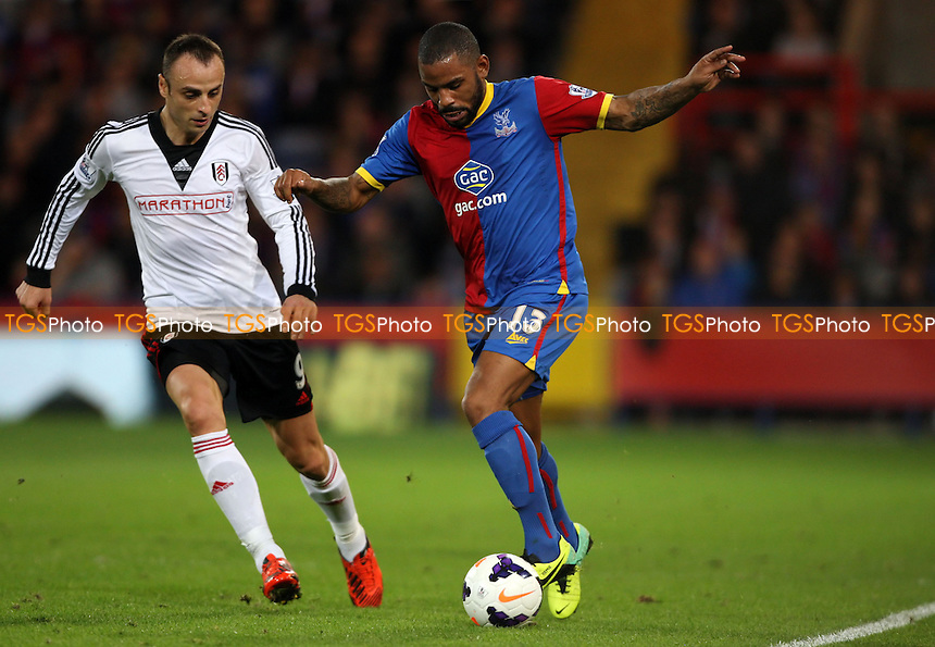 Jason Puncheon of Crystal Palace and Dimitar Berbatov of Fulham - Crystal Palace vs Fulham, Barclays Premier League at Selhurst Park, Crystal Palace - 21/10/13 - MANDATORY CREDIT: Rob Newell/TGSPHOTO - Self billing applies where appropriate - 0845 094 6026 - contact@tgsphoto.co.uk - NO UNPAID USE