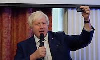 OCTOBER 15, 2015 -TOKYO, JAPAN: Mayor of London Boris Johnson MP at an event at the British Embassy in Tokyo, to encourage collaboration between London and Japan in financial technology.  (Photo / Ko Sasaki  )