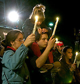Sago, WVa - January 4, 2005 -- Unidentified family at the candlelight vigil and prayer service honoring the 13 lost coal miners outside Sago Baptist Church in Sago, West Virginia on January 4, 2006.  .Credit: Ron Sachs / CNP..[Editors Note: Family refused to give their names when asked]