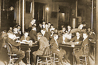 "Historical Views: Lewis Hine Photograph ""Newsboys' Reading Room"", Boston 1909.  Photo '78.  Reference only."