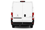 Straight rear view of a 2015 Peugeot BOXER L4H2 4 Door Cargo Van Rear View  stock images