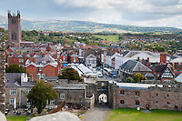 View of Ludlow from Ludlow Castle, Shropshire.